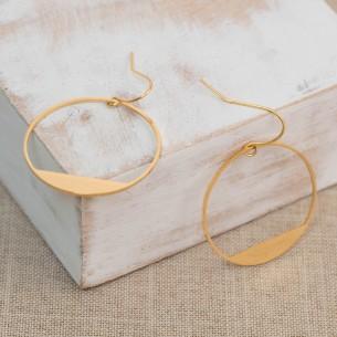 Bijoux boucle d'oreille Menthe À l'O LAMERIE créole acier inoxydable Bijoux Sauvages doré argent
