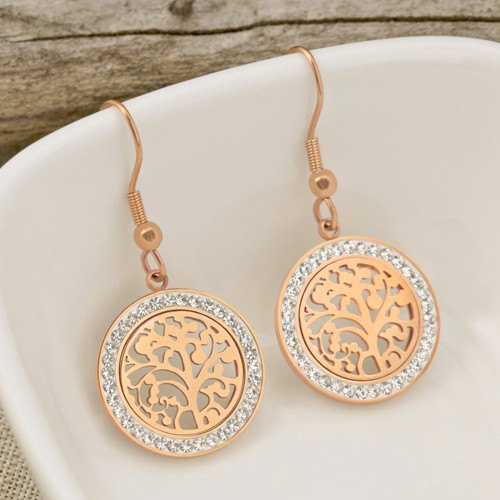 VIDA Pink Gold Silver boucles...