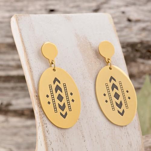 Bijoux boucle d'oreille Menthe À l'O DJIGO mini créole courte acier inoxydable doré argent Bijoux Sauvages