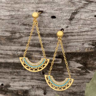 CAMELO Gold SIlver boucles...
