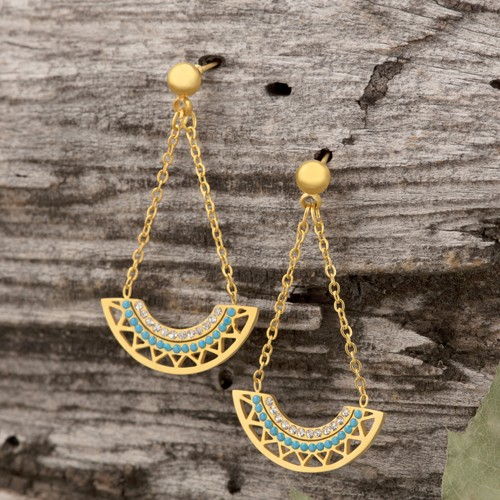 CAMELO Gold SIlver pendant earrings...