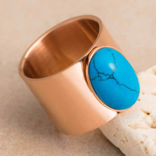 HERIS Turquoise Pink Gold cabochon...