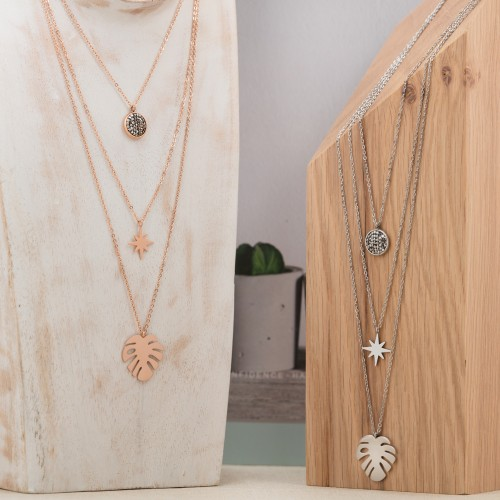 LUGSBY Pink Gold Silver necklace...