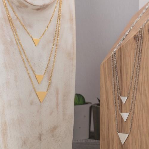 SEPHYR Gold Silver necklace Multi-row...