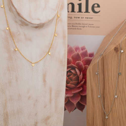 STARDUST Gold Silver short necklace...