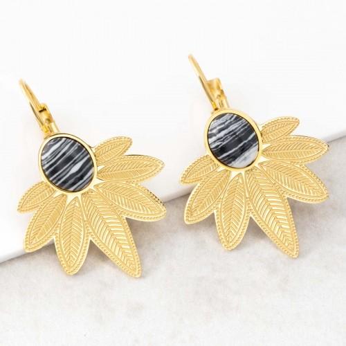 NATULIS Black & White Gold boucles...