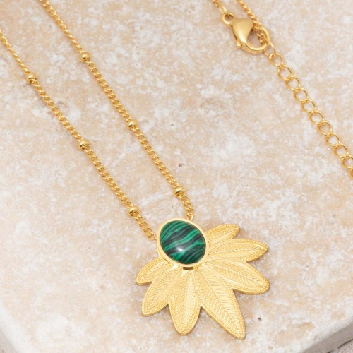 NATULIS Green Gold short necklace...