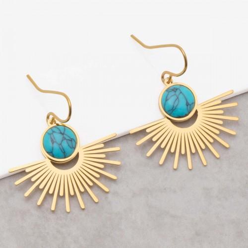 EKIS Turquoise Gold pendant earrings...