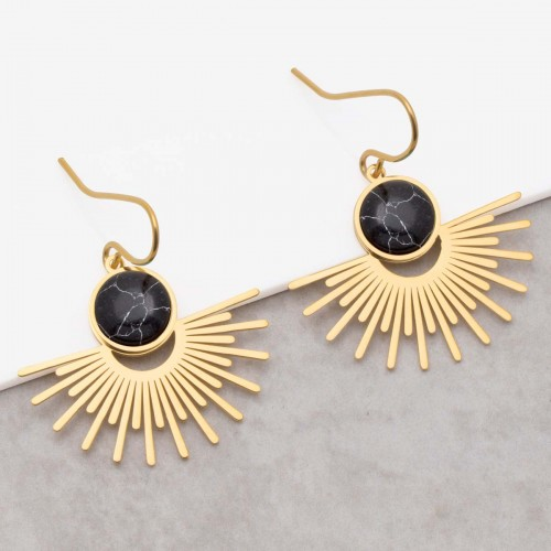EKIS Black Gold pendant earrings...