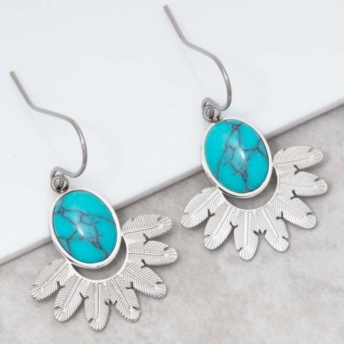 PANAMA Turquoise Silver dangling...