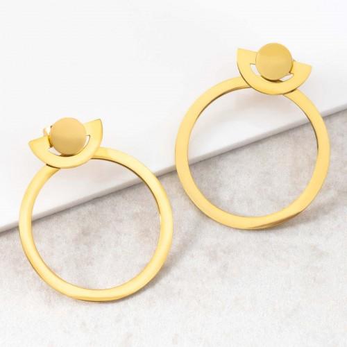 ONDORE Gold dangling hoop earrings...