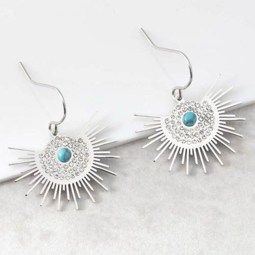 ASOL Turquoise Silver boucles...