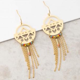 Bijoux boucle d'oreille ethnique Menthe À l'O BORANE Gold pendantes acier inoxydable breloques chaines doré Bijoux Sauvages