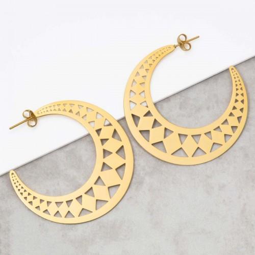 PROMETHEE Gold hoop earrings golden...