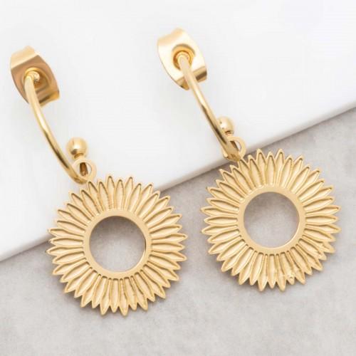 SOREONE Gold dangling hoop earrings...