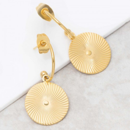 SOAGE Gold dangling hoop earrings...