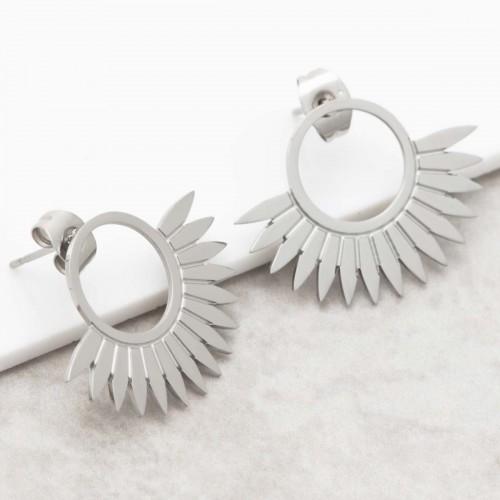 JANGO Silver half moon stud earrings...