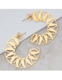 ELOA Gold hoop ea...