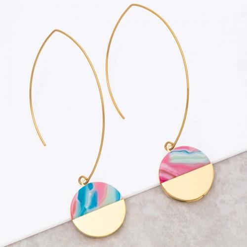 URUKA Color Gold hanging hoop...